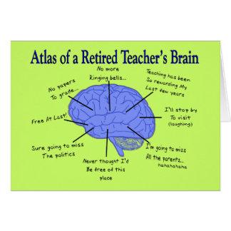 Atlas des Gehirns eines pensionierten Lehrers Grußkarte