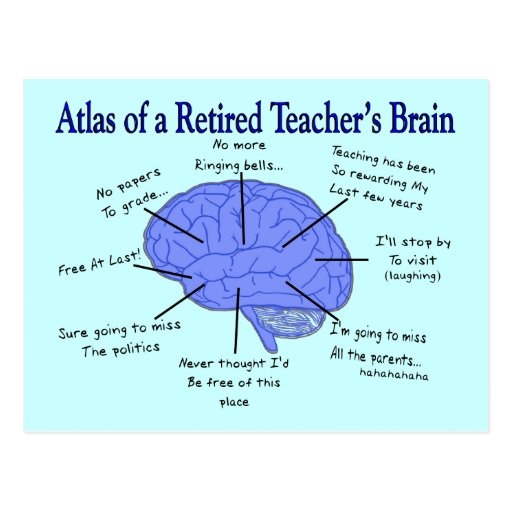 Atlas des Gehirns eines pensionierten Lehrers Postkarte