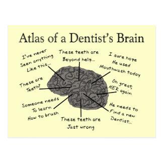 Atlas des Gehirns eines Zahnarztes Postkarte