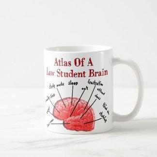 Atlas des Jurastudent-Gehirns Kaffee Tasse