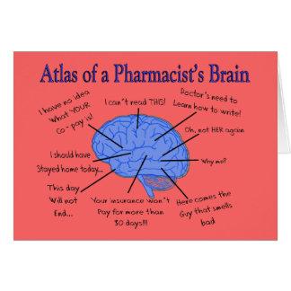 Atlas eines Apothekers Gehirn-Unglaublich witzig Grußkarte