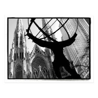 Atlas u. St Patrick Kathedralen-Postkarte Postkarte