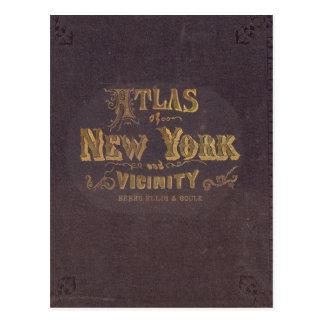 Atlas von New- Yorknähe Postkarte