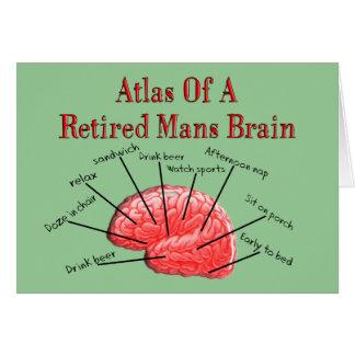 Atlas von zurückgezogen bemannt Gehirn Karte