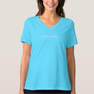 Atmen Sie - den V-Hals (dunkel) T-Shirt
