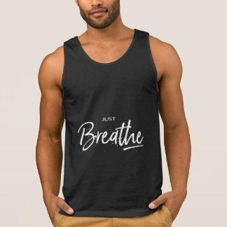 Atmen Sie einfach cooles Yoga-Schwarzes Tank Top