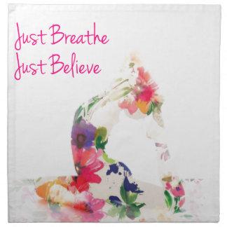 Atmen Sie einfach Yoga-Reihe Serviette