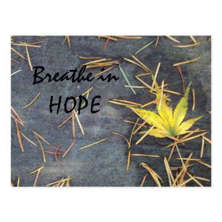 Atmen Sie Hoffnungs-Postkarte Postkarte