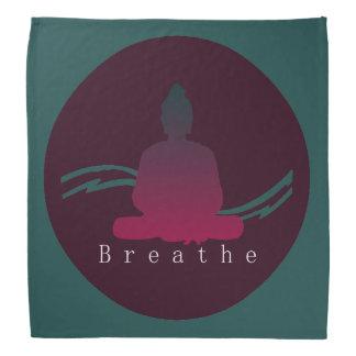 """""""Atmen Sie"""" schönen Buddha Kopftuch"""