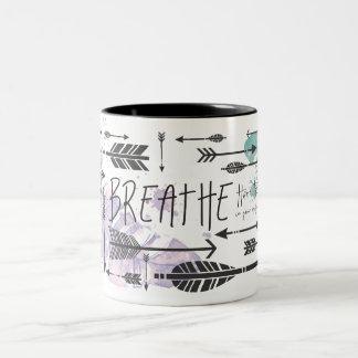 Atmen Sie Tasse