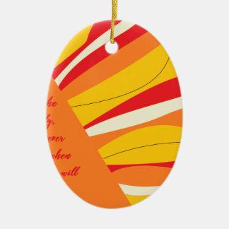atmen Sie tief Ovales Keramik Ornament