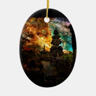 Atmen Sie wieder Bali Keramik Ornament