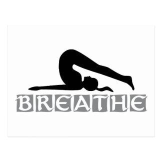 ATMEN Sie Yoga Postkarte