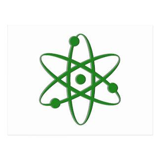 Atom dunkelgrün postkarten