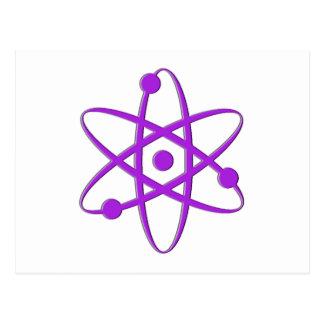 Atom lila postkarte