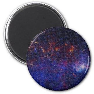 Atom-Muster Runder Magnet 5,1 Cm