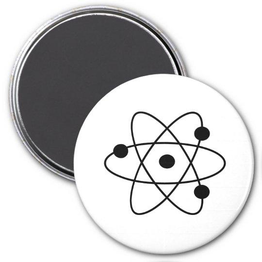 atom runder magnet 7,6 cm