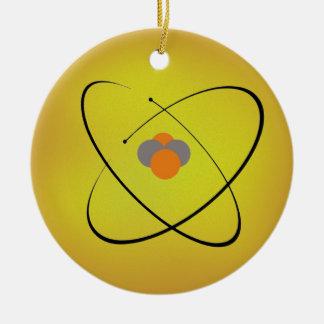 Atom Rundes Keramik Ornament