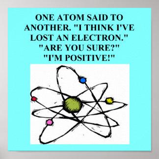 Atom verlor einen Elektronphysikwitz Plakatdruck