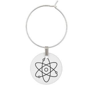 Atom-Wissenschafts-Wein-Charme Weinglas Anhänger