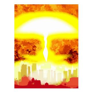Atombomben-Hitze-Hintergrund Postkarte