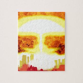Atombomben-Hitze-Hintergrund Puzzle