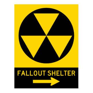 Atombunker-Führer-Landstraßen-Zeichen Postkarte