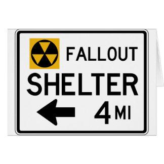 Atombunker-Straßenschild Karte