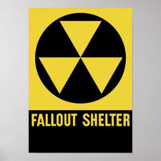Atombunker-Zeichen Poster