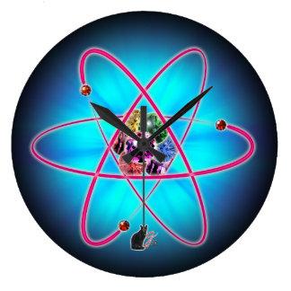 Atomjuwelen Große Wanduhr