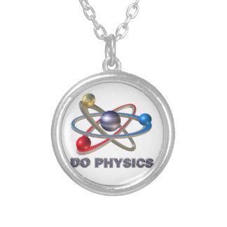 Atomsymbol Versilberte Kette