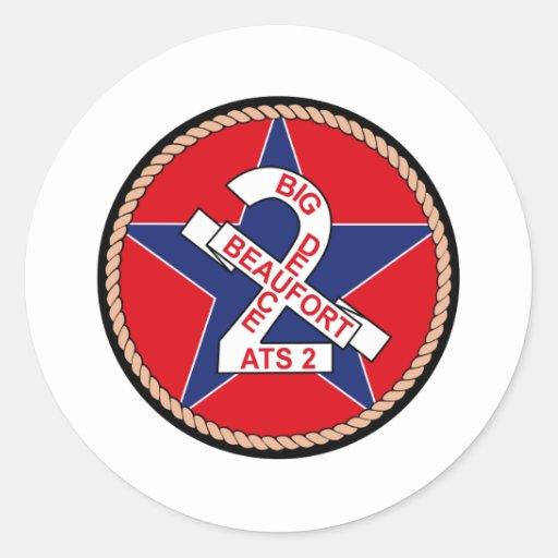 ATS-2 USS Beaufort Militär bessert aus Runder Sticker