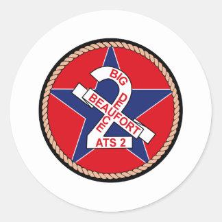 ATS-2 USS Beaufort Militär bessert aus Runder Aufkleber