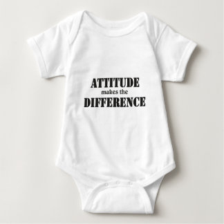 Attitude makes the difference baby strampler