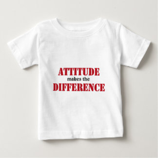Attitude makes the difference baby t-shirt