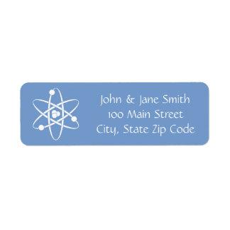 Attraktive Kräfte im Singrün-Adressen-Etikett Rücksendeetiketten