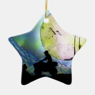 ATV Droschke-Raum-LandschaftsSprühfarbe-Kunst Keramik Ornament