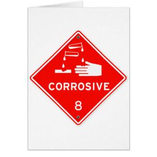 Ätzende Sicherheits-rote Zeichen-Chemikalien Karte