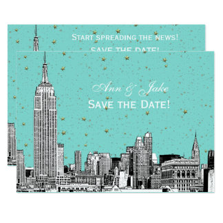 Ätzung DIY BG NYC Skyline-01 färben Save the Date Karte