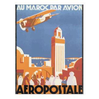 Au Maroc Gleichheit Avion Aeropostale, Vintag Postkarte