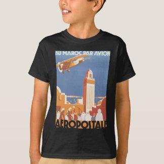 Au Maroc Gleichheit Avion Aeropostale, Vintag T-Shirt