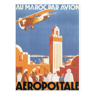 Au Maroc Gleichheit Avion Vintages Reise-Plakat Postkarte