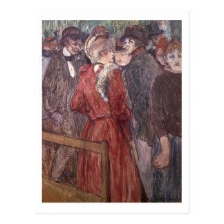 Au Moulin de la Galette, 1891 (w/c und Gouache) Postkarte