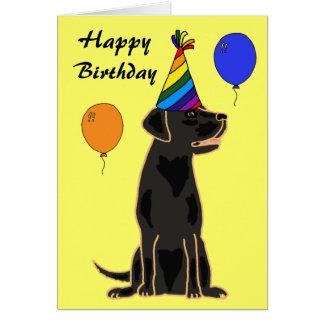AU schwarze Labrador-Geburtstags-Karte Karte