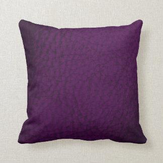 Auberginen-FarbImitat-Leder-Entwurf Kissen