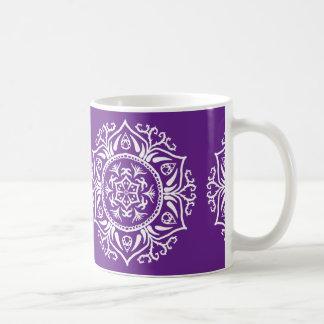 Auberginen-Mandala Kaffeetasse