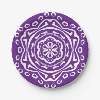 Auberginen-Mandala Pappteller
