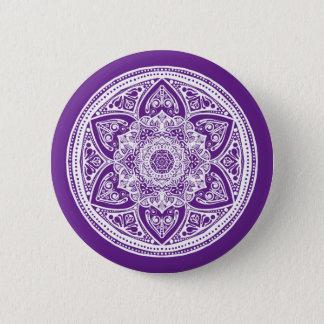 Auberginen-Mandala Runder Button 5,7 Cm
