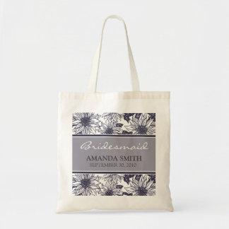Auberginen-Sonnenblume-personalisierte Tragetasche