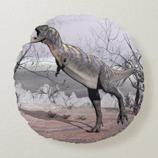 Aucasaurusdinosaurier - 3D übertragen Rundes Kissen